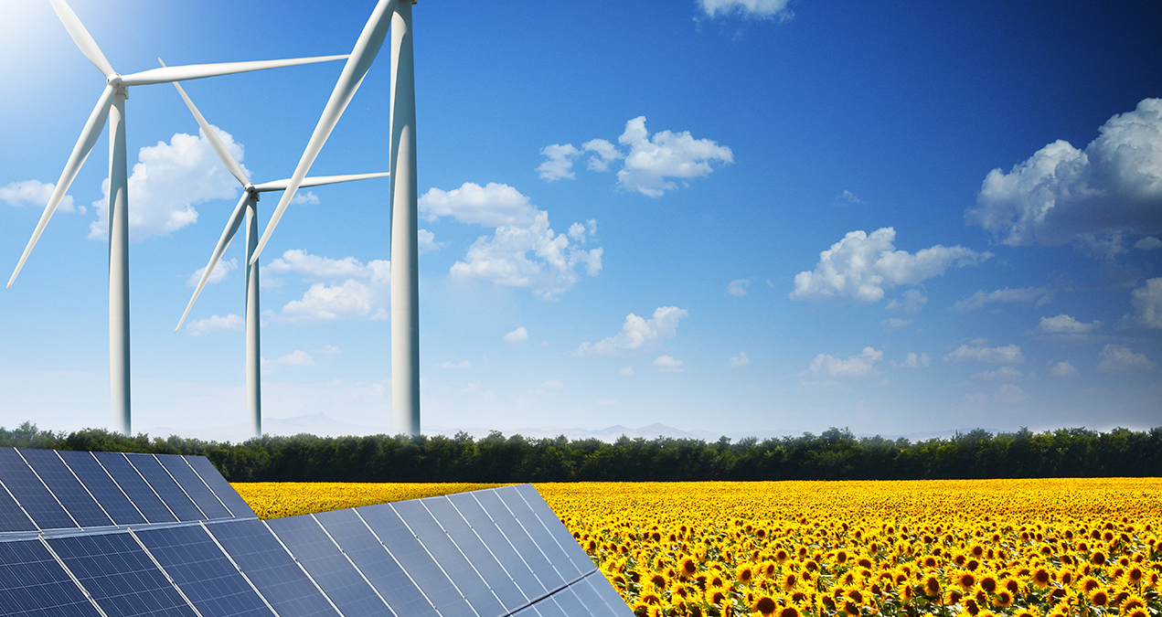 Photovoltaik entlang der Autobahn